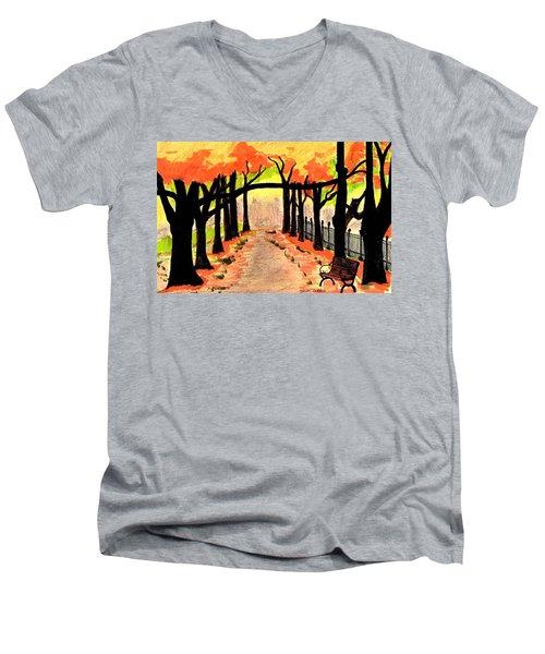 October- Salem Common Men's V-Neck T-Shirt