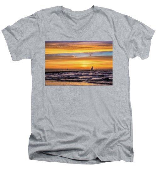 Men's V-Neck T-Shirt featuring the photograph October Surprise by Bill Pevlor