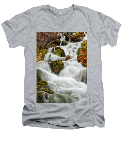 October Waterfall Men's V-Neck T-Shirt