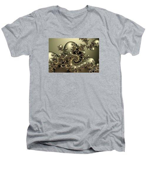 Men's V-Neck T-Shirt featuring the digital art Octopus by Karin Kuhlmann
