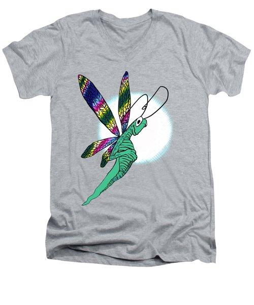 Odd Dragonfly Men's V-Neck T-Shirt