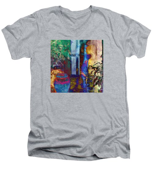 Men's V-Neck T-Shirt featuring the photograph Ode On Another Urn by LemonArt Photography