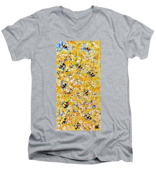 Ode To Bees.. Men's V-Neck T-Shirt