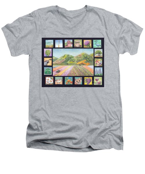 Ode To Lompoc Men's V-Neck T-Shirt by Terry Taylor