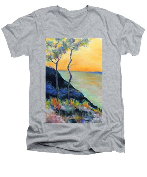 Ode To Monet Men's V-Neck T-Shirt by Jodie Marie Anne Richardson Traugott          aka jm-ART