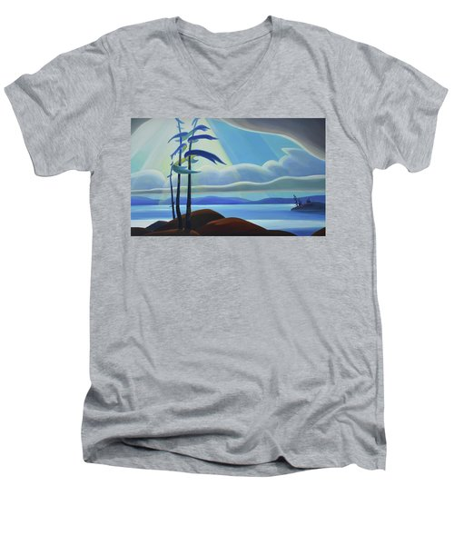 Ode To The North II - Center Panel Men's V-Neck T-Shirt