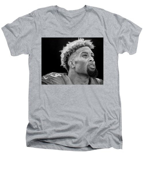 Odell Beckham Jr. Drawing Men's V-Neck T-Shirt