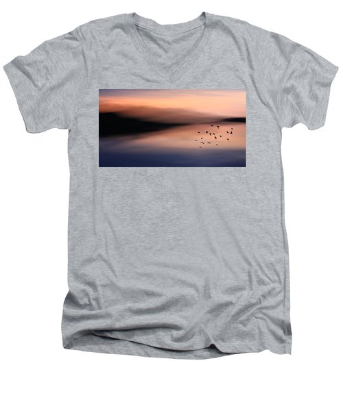 O'er Mountains Men's V-Neck T-Shirt
