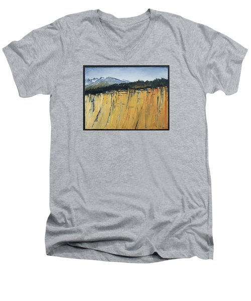 Of Bluff And Mountain Men's V-Neck T-Shirt by Carolyn Doe