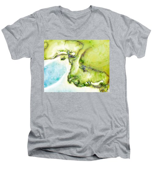Of Earth And Water Men's V-Neck T-Shirt by Michelle H