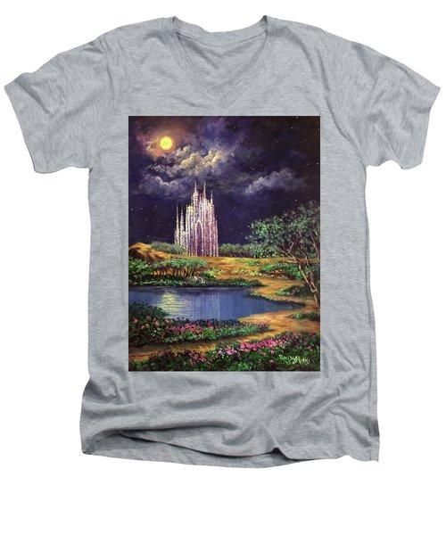 Of Glass Castles And Moonlight Men's V-Neck T-Shirt