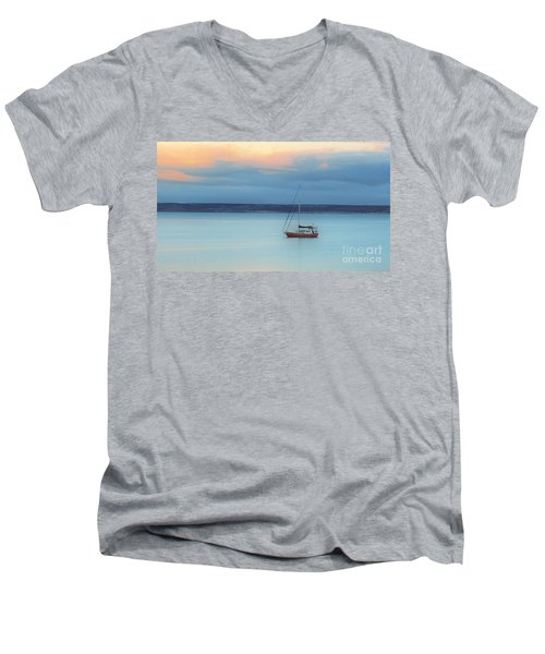 Men's V-Neck T-Shirt featuring the photograph Off Sailing by Stephen Mitchell