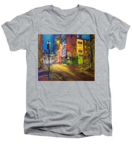 Off Shudehill Manchester Men's V-Neck T-Shirt