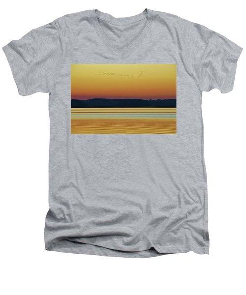 Off To Florida Men's V-Neck T-Shirt by William Bartholomew