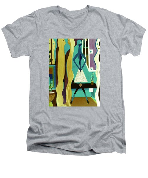 Office Party Men's V-Neck T-Shirt