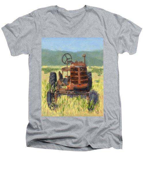 Offset High Crop Men's V-Neck T-Shirt