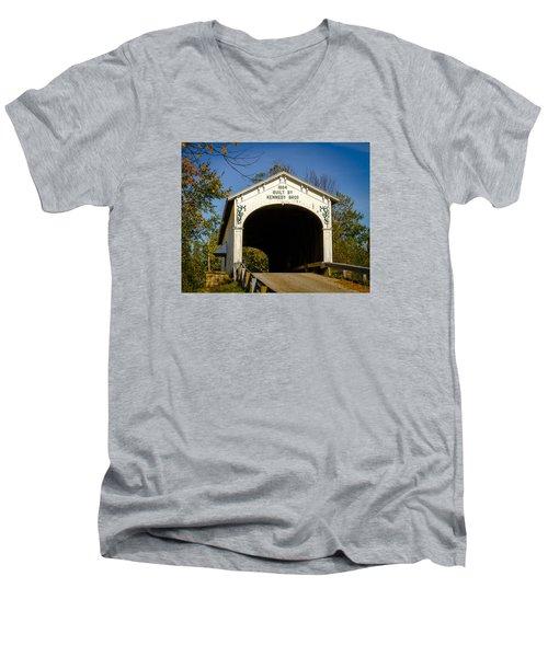 Offutt's Ford Covered Bridge Men's V-Neck T-Shirt