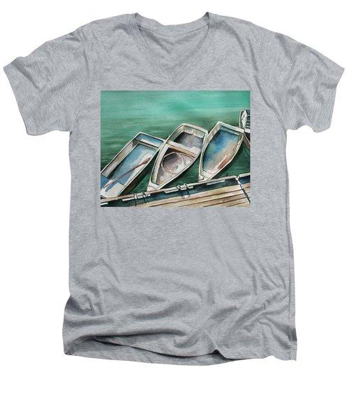 Ogunquit Maine Skiffs Men's V-Neck T-Shirt