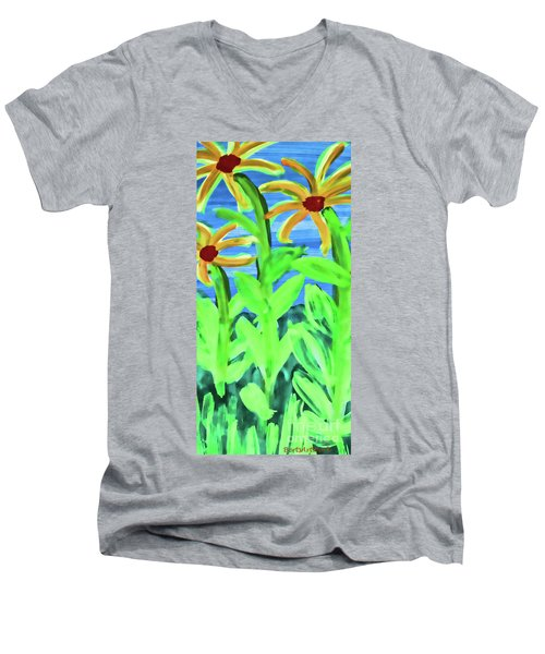 Oh Glorious Day Floral Men's V-Neck T-Shirt