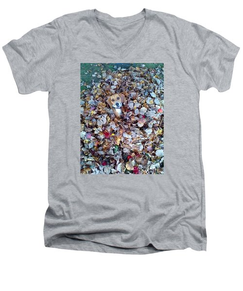 Oh How I Just Love Fall Men's V-Neck T-Shirt by Annlynn Ward