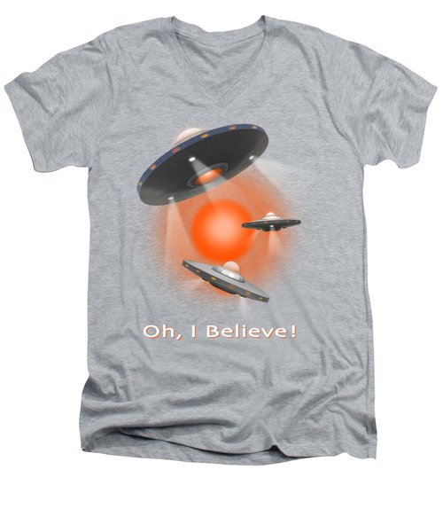 Oh I Believe  Se Men's V-Neck T-Shirt by Mike McGlothlen