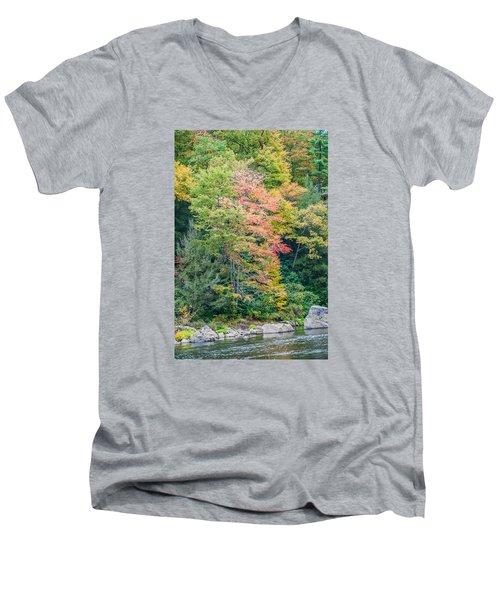 Ohio Pyle Colors - 9709 Men's V-Neck T-Shirt by G L Sarti