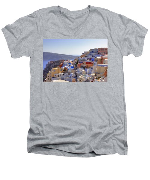 Oia - Santorini Men's V-Neck T-Shirt