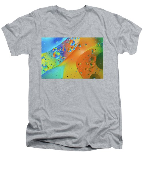 Oil And Water 10 Men's V-Neck T-Shirt by Jay Stockhaus