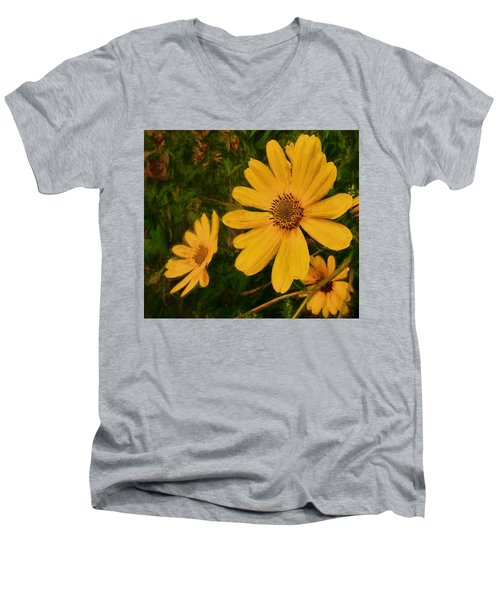 Oil Glaze Wildflowers Men's V-Neck T-Shirt