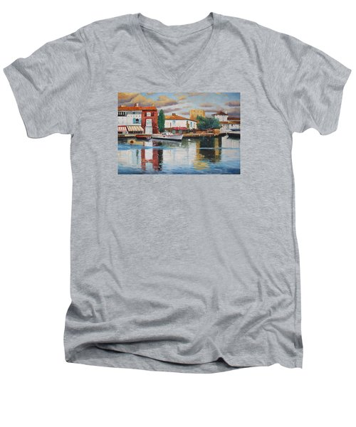 Oil Msc 019 Men's V-Neck T-Shirt