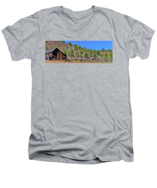 Ok Corral Men's V-Neck T-Shirt by Ansel Price