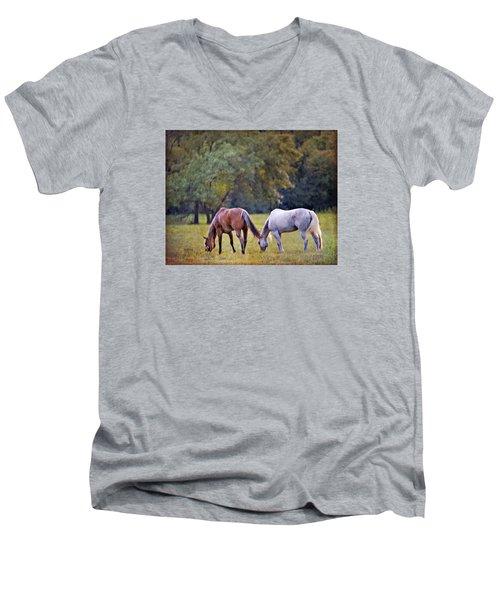 Ok Horse Ranch_2a Men's V-Neck T-Shirt