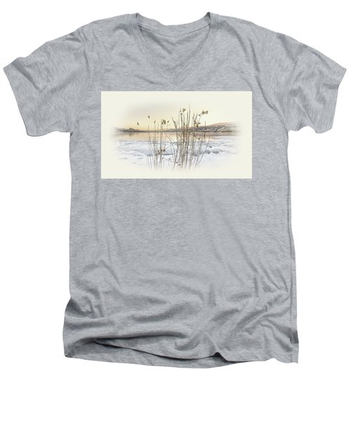 Men's V-Neck T-Shirt featuring the photograph Okanagan Glod by John Poon
