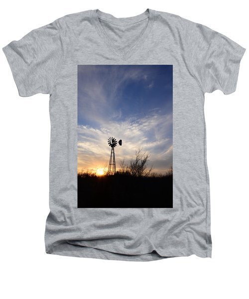 Oklahoma Skies Men's V-Neck T-Shirt