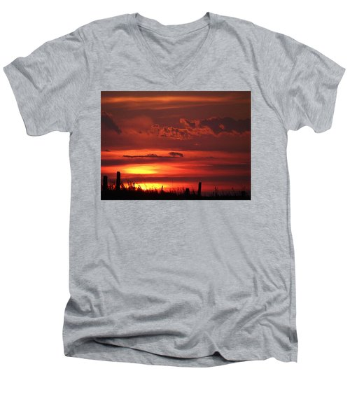 Oklahoma Sky At Daybreak  Men's V-Neck T-Shirt