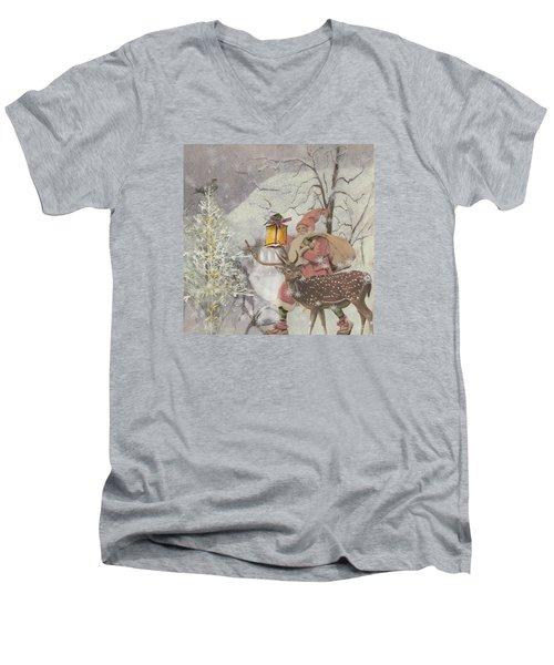 Ol' Saint Nick Men's V-Neck T-Shirt