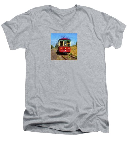 Men's V-Neck T-Shirt featuring the photograph Old 300 by Thom Zehrfeld