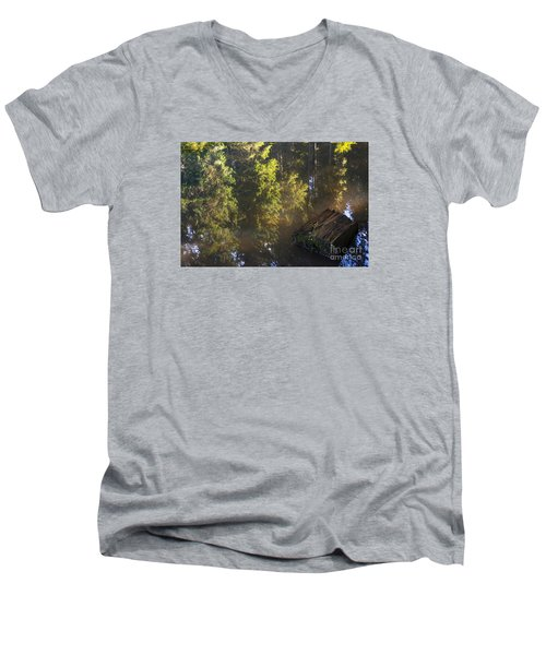 Old And New Life Men's V-Neck T-Shirt by Yuri Santin