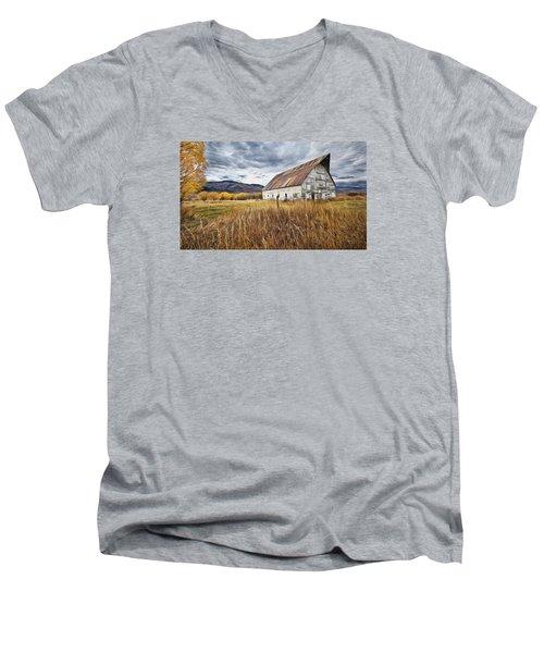 Old Barn In Steamboat,co Men's V-Neck T-Shirt