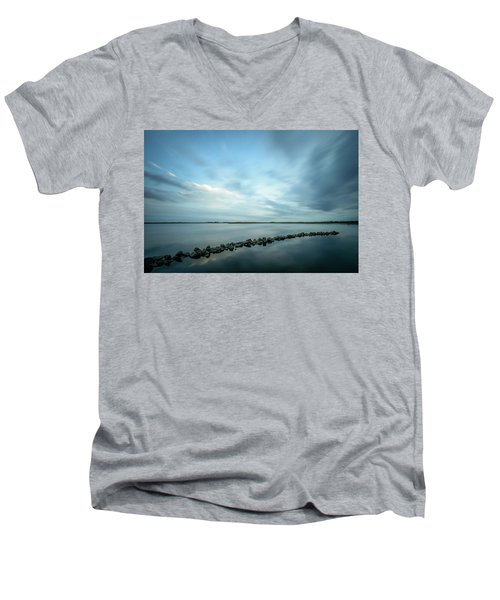 Old Blue Morning Men's V-Neck T-Shirt
