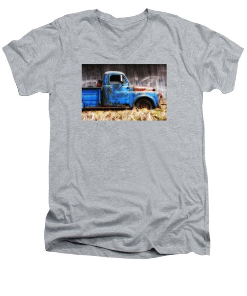 Old Blue Truck Men's V-Neck T-Shirt