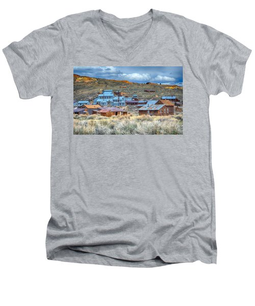 Old Bodie Gold Mining Town Men's V-Neck T-Shirt