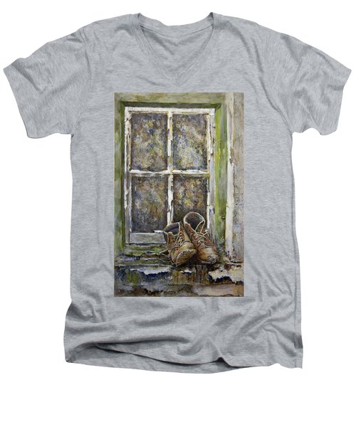 Old Boots Men's V-Neck T-Shirt by Marty Garland