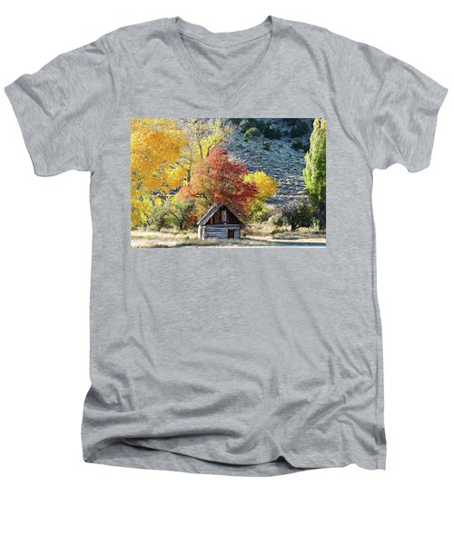 .  Butch Cassidy's Home Place  Men's V-Neck T-Shirt