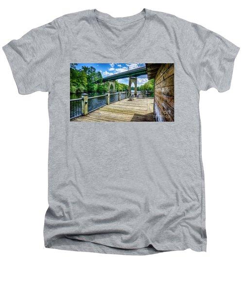Old Conway Bridge Men's V-Neck T-Shirt