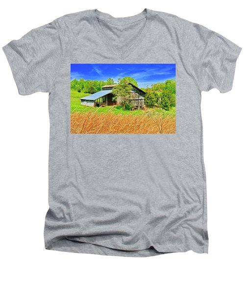Old Country Barn Men's V-Neck T-Shirt
