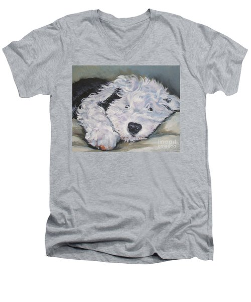 Old English Sheepdog Pup Men's V-Neck T-Shirt