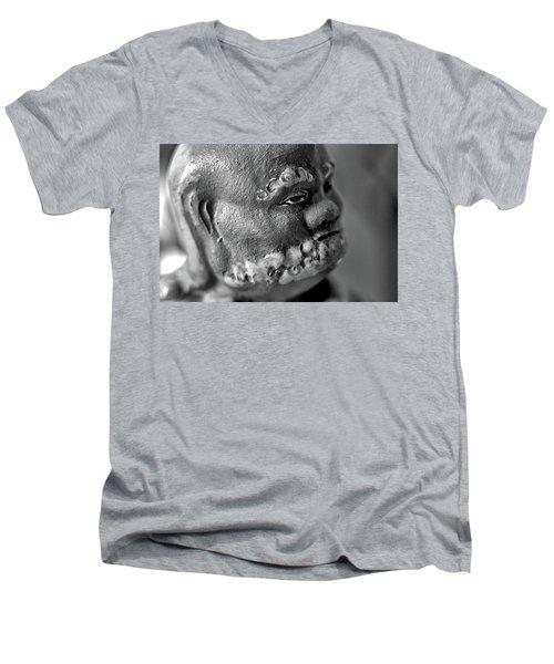 Old Face, Statue Men's V-Neck T-Shirt