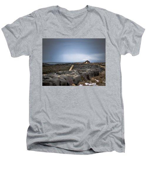 Old Fisherman's Coastal House Men's V-Neck T-Shirt