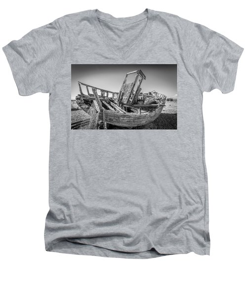 Old Fishing Boat. Men's V-Neck T-Shirt